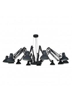 Подвесная люстра Arte Lamp Ragno A2043SP-12BK